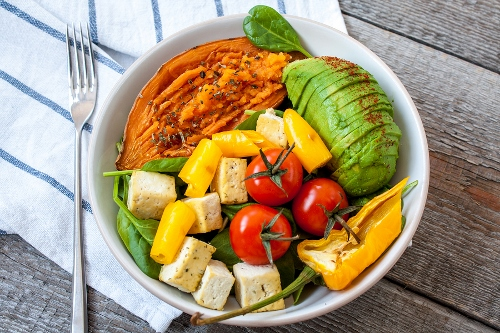 Vegan fast food with superfoods